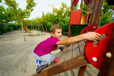 Children's playgrounds with swings, slides and other recreational areas for your children